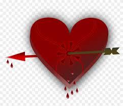 broken heart love valentine arrow