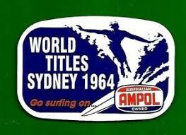 1964 Surfing Titles Manly Beach Sticker Decal Surfboard Ampol Oil Longboard Car Ebay