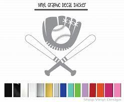 Baseball Softball Glove Ball And Bats Shop Vinyl Design