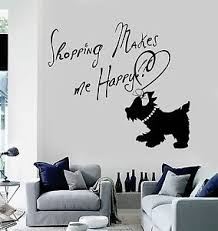 Vinyl Wall Decal Quote Girl Room Dog Shopping Fashion Woman Stickers Ig3653 Ebay
