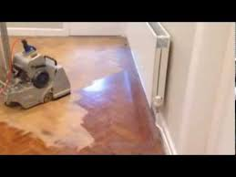 floor sanding anglesey teak parquet