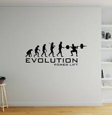 Evolution Power Lift Wall Sticker Decal Vinyl Gym Sport Funny Quote Lift Weight Ebay