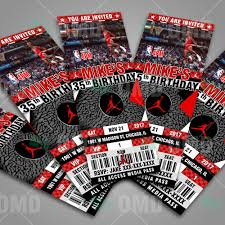 Air Jordan Birthday Ticket Style Sports Party Invi Fiestas De