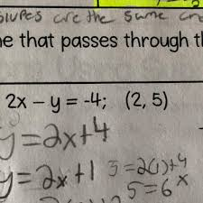 write the equation of the line parallel