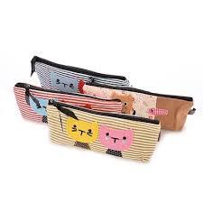 cute cat pattern pencil case makeup bag