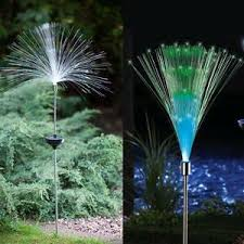 fiber optic color changing garden stake