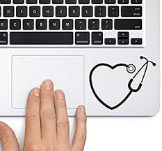 Amazon Com Heart Stethoscope Trackpad Apple Macbook Laptop Vinyl Sticker Decal Clothing