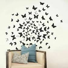 Dcwv Home Peel And Stick Wall Art Decals 3d Embellishments Flock Of Butterflies For Sale Online Ebay