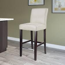 white bonded leather bar stool