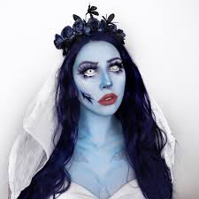 scary halloween makeup corpse bride