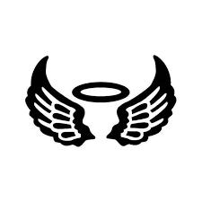 Angel Wings Halo 3 Vinyl Sticker