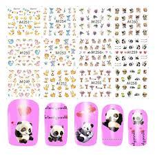12pcs Cute Animals Sticker Water Transfer Nail Art Stickers Panda Rabbits Decorations Nails Decals Diy Slider Wrap Jia1249 1260 Nail Decals Stickers Waterwater Transfer Nail Aliexpress