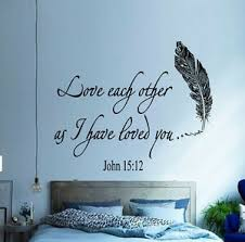 Family Wall Decal Quote Love Each Other Bible Verses Bedroom Boho Decor Ki167 Ebay