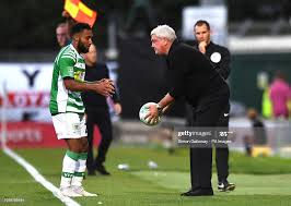 Yeovil Town's Wesley McDonald and Aston Villa's manager Steve Bruce... News  Photo - Getty Images