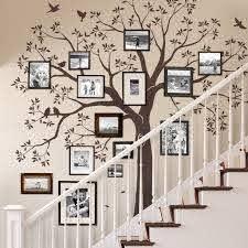 Staircase Family Tree Wall Decal Chestnut Brown Standard 109 5 Inch W X 105 Inch H Walmart Com Walmart Com