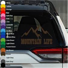 Mountain Life Car Decal Crazy4decals