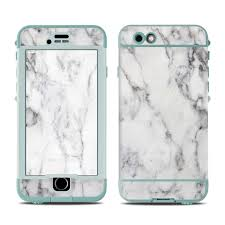 Skin For Lifeproof Nuud Iphone 6s White Marble Sticker Decal Ebay