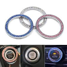 Crystal Auto Engine Start Stop Decoration Crystal Interior Ring Decal For Vehicle Ignition Button For Car Suv Bling Decorative Ornaments Aliexpress
