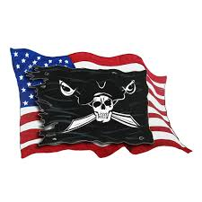 Usa Flag And Pirate Flag Vinyl Decal Sticker Car Truck Rv Boat Cooler Ebay
