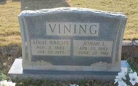 Jonah L. Vining - Addie Wright
