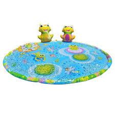 Children S Sprinkler Mat 3d Frog Shaped Water Spray Pad Toy Game Cushion Walmart Com Walmart Com