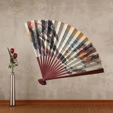 Asian Fan Decor Japanese Fan Beauty Relax Full Color Wall Wall Decal Sticker Wall Vinyl Decor Wall Decals