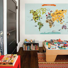 Zoomie Kids Children S World Map Wall Decal Wayfair