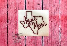 Aggie Mom Decal Sticker Yeti Decal Car Decal Laptop Decal This Vinyl Decal Is Perfect For A Cup Car Laptop And More Yeti Decals Decals Decals Stickers