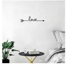 Multiple Colour Love Arrow Decals Wall Sticker Living Room Bedroom Vinyl Engraved Wall Decals Home Decoration Stickers Country Wall Decor Wall Stickers For Nurseries From Meow Sports 0 47 Dhgate Com
