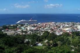 Cruise ship in port, Casteries, St. Lucia | Photo.net