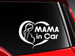 Mama In Car Cute Vinyl Car Decal Sticker 7w W Cute Etsy Car Decals Stickers Car Decals Vinyl Car Decals