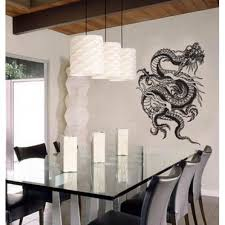 Asian Art Wall Stickers Tangled Dragon Wall Decal