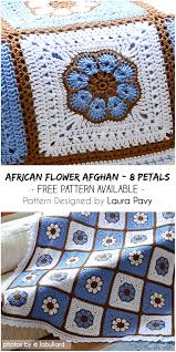 stunning african flower afghan with 8