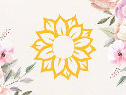 Sunflower Vinyl Decal Sunflower Car Decal Sunflower Decal Etsy