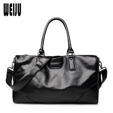 black mens leather travel bag hand 2016