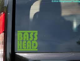 Bass Head Vinyl Decal V2 Edm Music Speaker Basshead Headbanger Die Cut Sticker Minglewood Trading