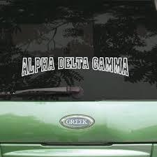 Alpha Delta Gamma Stadium Sticker Greek Accessories