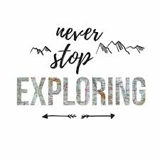 Never Stop Exploring Quote Peel And Stick Wall Decals Peel And Stick Decals The Mural Store