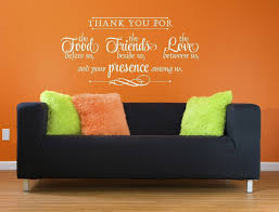 Thank You For Food Friends Love Wall Decal Stickers Kitchen Wall Words