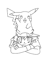 Pokemon Pika En Ash Pokemon Kleurplaten Kleurplaat Com