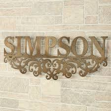 Kinship Antique Gold Family Name Personalized Metal Wall Art Sign