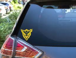 Pokemon Go Team Instinct Logo Vinyl Decal Sticker Car Window Etsy