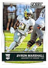 Amazon.com: Football NFL 2016 Score Rookies #380 Byron Marshall RC ...
