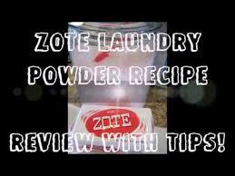 zote laundry powder recipe with tips