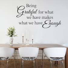 Being Grateful For What We Have Wall Decal For Kitchen Or Dining Room