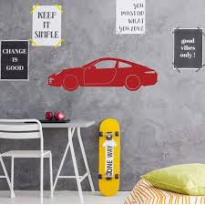Amazon Com Porsche Wall Decor Garage Wall Decal Motor Sports Vinyl Sticker For Bedroom Playroom Gameroom Or Man Cave Decor Handmade