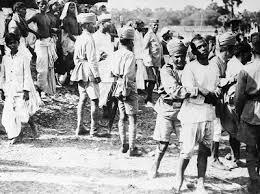 Kamat's Potpourri:Picture Explorer : Indian Policemen and Satyagrahis