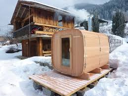 wooden outdoor sauna made in france o