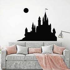 Wall Decal Fairytale Medieval Castle Full Moon Child Kids Girls Bedroom Baby Room Home Decor Vinyl Window Stickers Mural M262 Wall Stickers Aliexpress