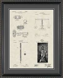 judge patent collection print lawyer gift